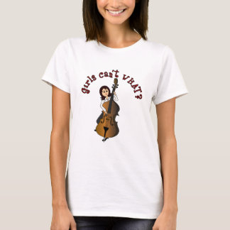 Upright String Double Bass Girl T-Shirt