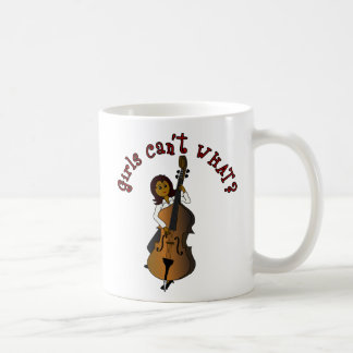 Upright String Double Bass Player Woman Coffee Mug