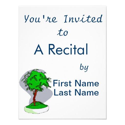 Upright Young Bonsai Graphic Image Design Personalized Invite