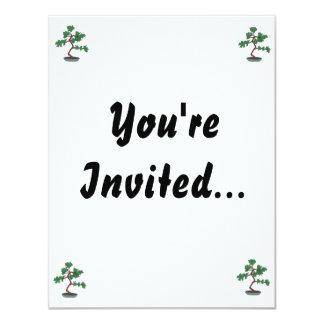 "Upright young bonsai graphic 4.25"" x 5.5"" invitation card"