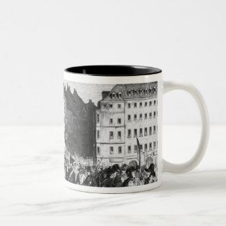 Uprising in Dresden Two-Tone Coffee Mug