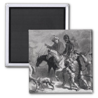 Uprising of the New England Yeomanry Square Magnet