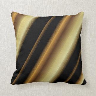 Upscale Black & Gold Blend Diagonal Stripes Cushion