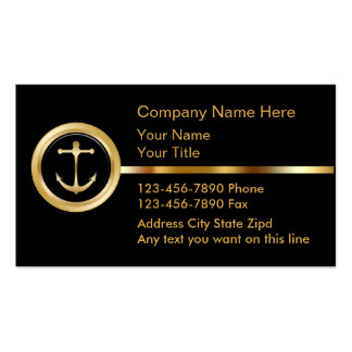Upscale Boating Business Cards