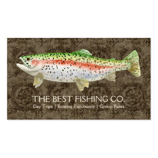 Upscale Fishing Charter Boat Guide Business Fish Pack Of Standard Business Cards