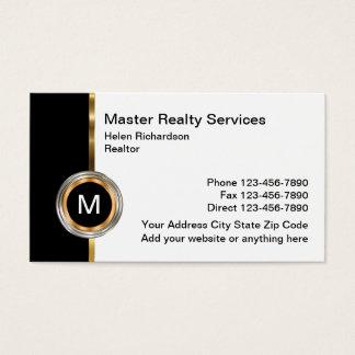 Upscale Real Estate Design Business Card