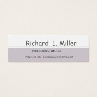 Upscale Simplistic Abstract Art Personal Training Mini Business Card