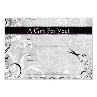 Upscale Swirls and Fluers Salon Gift Card
