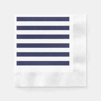 Upscale Venetian Venice Blue White Stripe Pattern Disposable Napkins