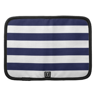 Upscale Venetian Venice Blue White Stripe Pattern Organizer