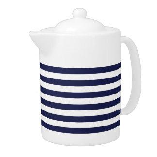 Upscale Venetian Venice Blue White Stripe Pattern