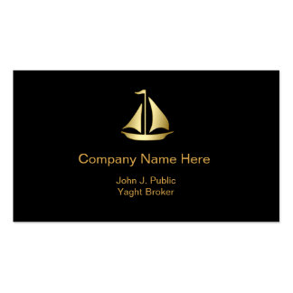 Upscale Yaght Broker Business Cards