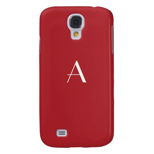 Upsdell Red w/White Monogram Galaxy S4 Case