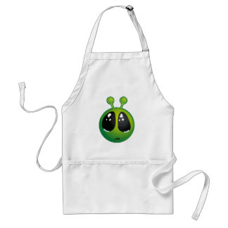 Upset alien adult apron