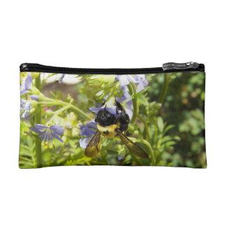 Upside Down Bumble Bee Makeup Bag