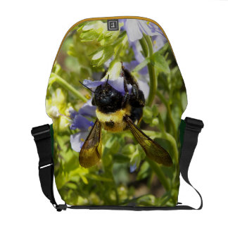Upside Down Bumble Bee Messenger Bags