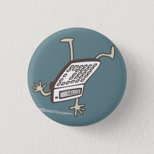 Upside Down Calculator Hello Retro Flair 3 Cm Round Badge