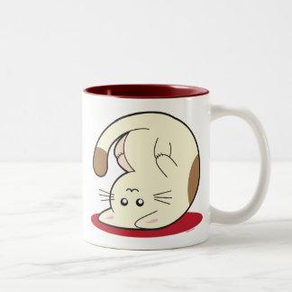 Upside Down Cat Two-Tone Mug