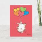 UPSIDE-DOWN CAT Valentines by Boynton Christmas Card
