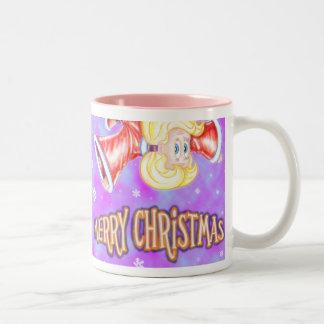 Upside-down Christmas Girl Mug