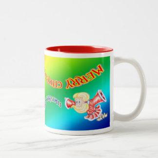 Upside-down Christmas Rainbow Girl Mug