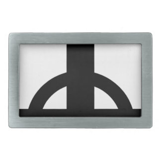 Upside Down Cross Rectangular Belt Buckle