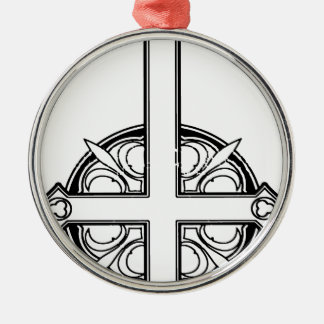 Upside Down Cross Pattern Christmas Ornament