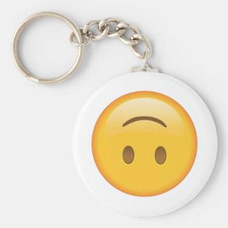 Upside-Down Face - Emoji Key Ring
