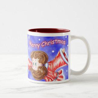 Upside-down Flying Christmas Girls Mug