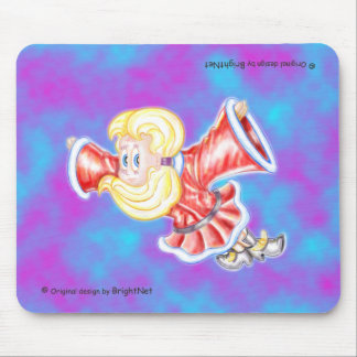 Upside down girl H Mouse Pad