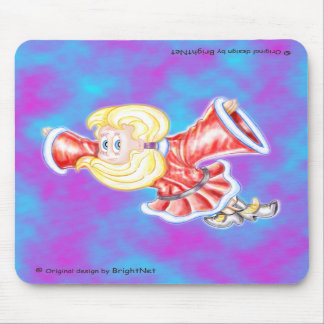 Upside-down girl mouse pads