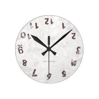 Upside Down Grunge Round Clock