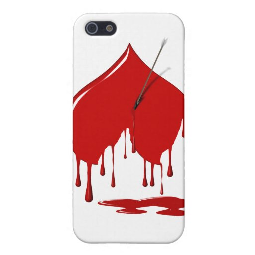 Upside Down Heart w/Puddle (add your text) Cases For iPhone 5