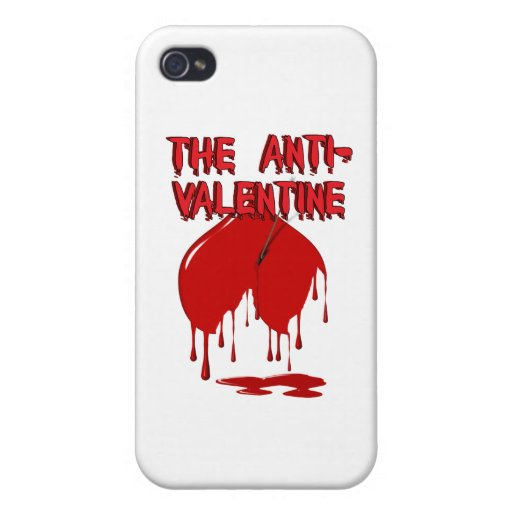 Upside Down Heart w/Puddle (Anti-Valentine) Cases For iPhone 4