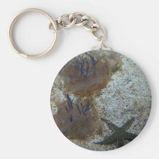 Upside-down Jellyfish Button Keychain