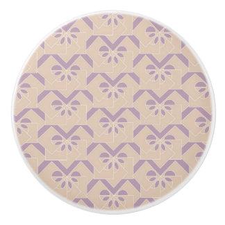 Upside down lavender pattern ceramic knob