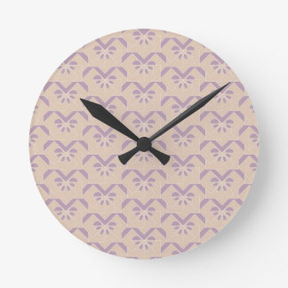 Upside down lavender pattern round clock