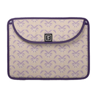 Upside down lavender pattern sleeve for MacBook pro