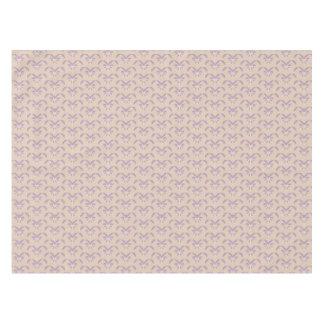 Upside down lavender pattern tablecloth