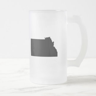 Upside Down Map of Montana Frosted Glass Mug