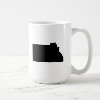 Upside Down Map of Montana Mugs