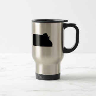 Upside Down Map of Montana Stainless Steel Travel Mug