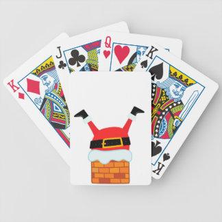 Upside Down Santa Bicycle Playing Cards