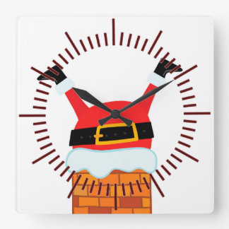 Upside Down Santa Clock