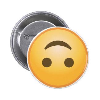 Upside-Down Smile Emoji 6 Cm Round Badge