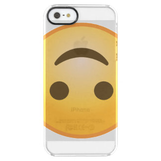 Upside-Down Smile Emoji Clear iPhone SE/5/5s Case