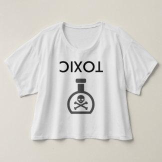 Upside Down Toxic Crop Top T-Shirt