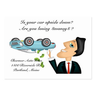 Upsidedown Auto Salesman Pack Of Chubby Business Cards