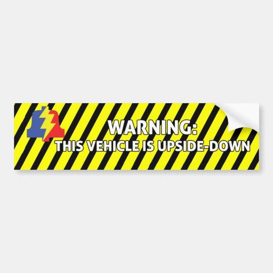 Upsidedown Vehicle Bumper Sticker