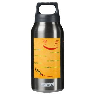 Upsidy smiley 10 oz insulated SIGG thermos water bottle